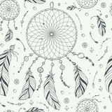 Seamless Pattern / Print With Hand Drawn Dream Catcher Stock Photo