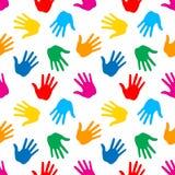 Seamless Pattern. Print of Hands. Vector Illustration royalty free illustration