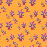 Seamless Pattern, Print of House Plants in Pots royalty free illustration