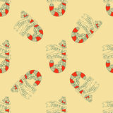 Seamless pattern for print textile design or paper wrapping. Candy Cane vector illustration