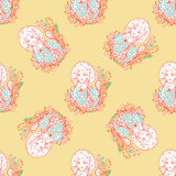 Seamless pattern for print textile design or paper wrapping. Royalty Free Stock Photos