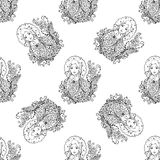Seamless pattern for print textile design or paper wrapping. Royalty Free Stock Images