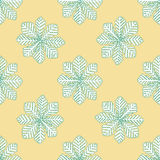 Seamless pattern for print textile design or paper wrapping. Merry Christmas doodles with Snowflake vector illustration