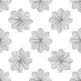 Seamless pattern for print textile design or paper wrapping.Merry Christmas. Doodles with Snowflake stock illustration