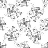 Seamless pattern for print textile design or paper wrapping Stock Photos