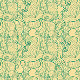 Seamless pattern for print textile design or paper wrapping. Royalty Free Stock Photo
