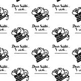 Seamless pattern for printing on gift packaging and textile materials. Vector Royalty Free Stock Images