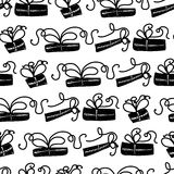 Seamless pattern for printing on gift packaging and textile materials. Vector Royalty Free Stock Photography