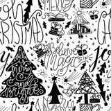 Seamless pattern for printing on gift packaging and textile materials. Vector Stock Photography
