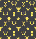 Seamless pattern of the prize cups Stock Photos
