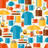 Seamless pattern with promotional gifts and Stock Images
