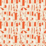 Seamless pattern with promotional gifts and Stock Photography