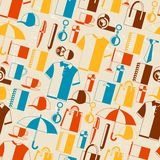 Seamless pattern with promotional gifts and Stock Photo