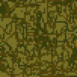 Seamless pattern Protective camouflage  brown  green coloration Stock Image