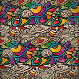 Seamless pattern of psychedelic eyes in vintage style Royalty Free Stock Image