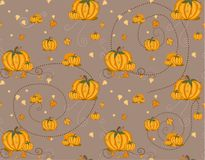 Seamless pattern - pumpkin Royalty Free Stock Photo