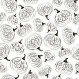 Seamless pattern pumpkin. Seamless pattern black and white pumpkins with abstract patterns for Halloween, harvest festival, vector illustration Royalty Free Stock Photos