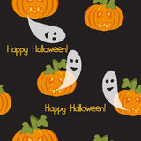 Seamless pattern with pumpkin lights Stock Photography