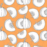 Seamless pattern with pumpkin Royalty Free Stock Photos