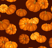 Seamless pattern with pumpkins. Royalty Free Stock Photography