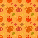 Seamless pattern with pumpkins Royalty Free Stock Images