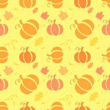 Seamless pattern with pumpkins Stock Images