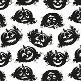 Seamless pattern of pumpkins for Halloween Royalty Free Stock Image