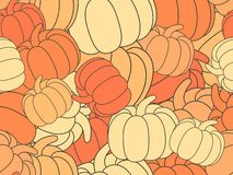 Seamless pattern with pumpkins. Halloween decoration. Autumn background for the holidays. Vector. Illustration stock illustration