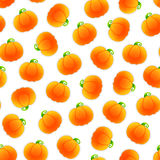 Seamless Pattern with Pumpkins Stock Photos