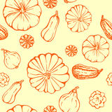Seamless pattern with pumpkins Stock Photography