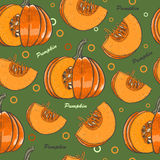 Seamless pattern with pumpkins for Thanksgiving Day Royalty Free Stock Images