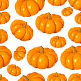 Seamless pattern with pumpkins. Vector EPS 8. Stock Images