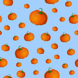Seamless pattern with pumpkins Royalty Free Stock Photo