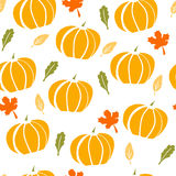 Seamless pattern with pumpkins on white background Royalty Free Stock Images