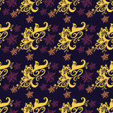 Seamless pattern purple background Stock Image