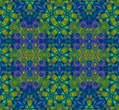Seamless pattern purple blue green Royalty Free Stock Photography