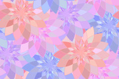 Seamless pattern with purple floral guilloche Royalty Free Stock Image