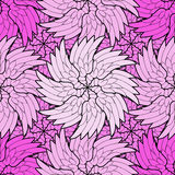 Seamless Pattern purple flower Stock Image