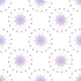 Seamless pattern with purple flowers Royalty Free Stock Image