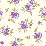 Seamless pattern with purple  flowers Stock Images