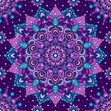 Seamless pattern Purple mandala. Decorative oriental element vector illustration