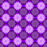 Seamless Pattern of Purple and Pink Rhombuses. Vector illustration Royalty Free Stock Photo