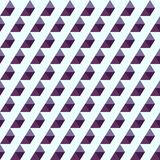 Seamless pattern of purple triangles. A seamless pattern of purple triangles on a white background Royalty Free Stock Image