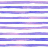 seamless pattern with purple watercolor stripes. hand painted brush strokes, striped background. Vector illustration stock illustration