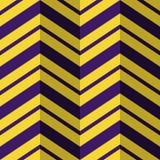 Seamless pattern, purple yellow zig zag background Stock Photos