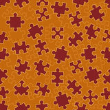 Seamless pattern with puzzles Stock Photo