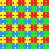 Seamless pattern with puzzles. Jigsaw background. Vector backdrop royalty free illustration