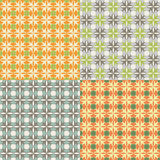 Seamless pattern Quatrefoil. Set of seamless  patterns. Color combinations Stock Image