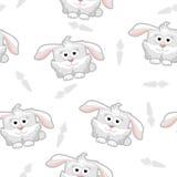 Seamless pattern rabbit Stock Image