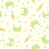 Seamless pattern with rabbits and carrots. Children cute seamless pattern with rabbits and carrots Royalty Free Stock Images